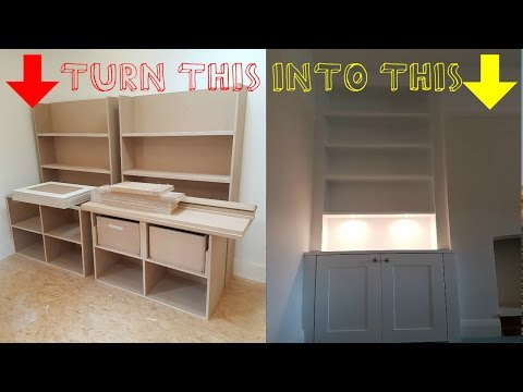 HOW TO - Build Alcove cabinets from cheap sheet material - time lapse video