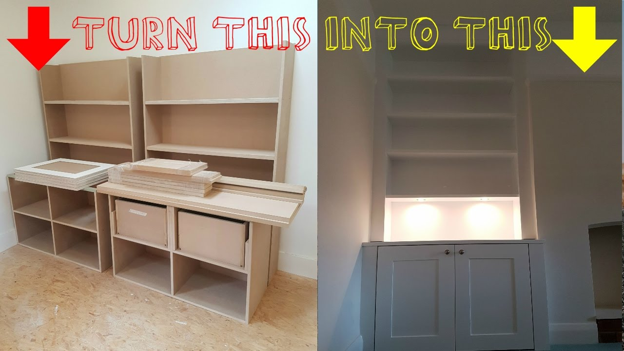 HOW TO   Build Alcove Cabinets From Cheap Sheet Material   Time Lapse Video