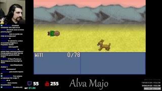 Jugando a Gemdow Quest, el anterior juego de Guinxu