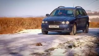 X Type in Snow -  Top Gear - BBC autos