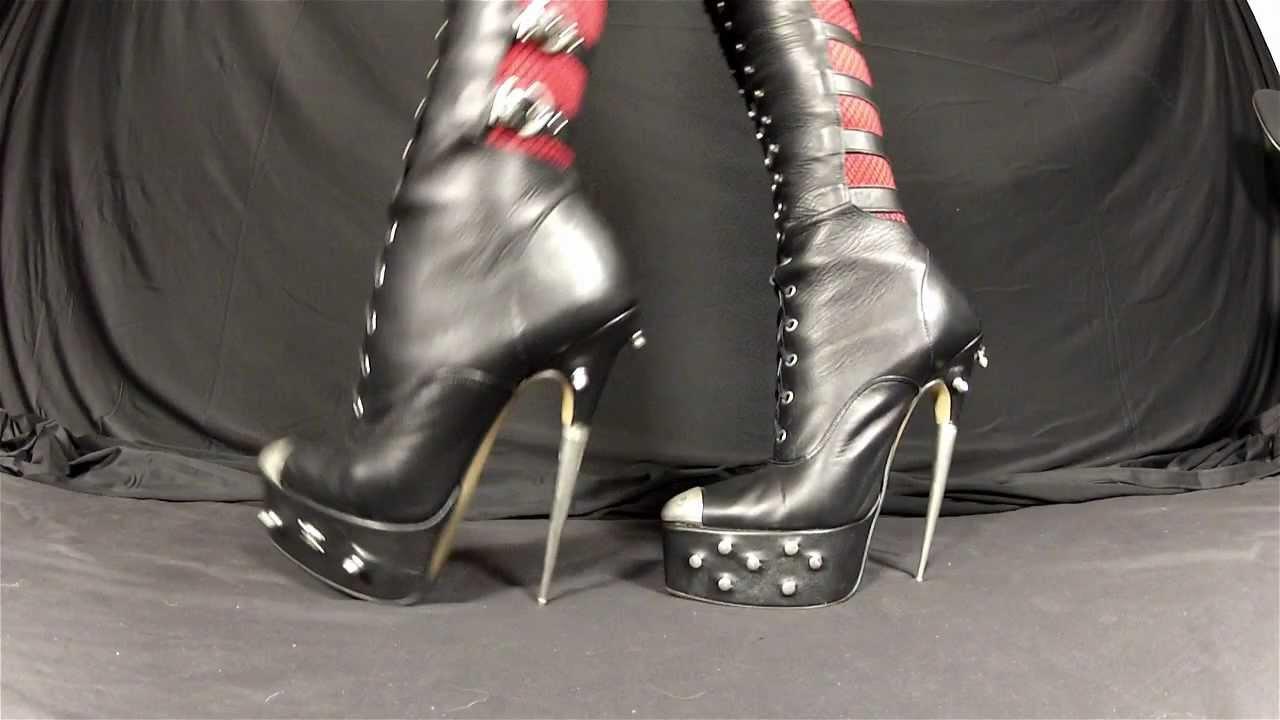 Ballet Fetish Locking Ankle Boots
