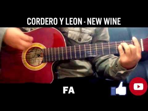 CORDERO Y LEON - NEW WINE TUTORIAL PARA GUITARRA // ACORDES ORIGINALES