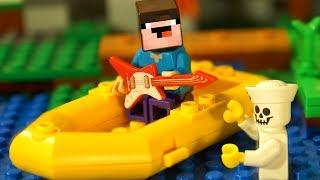 КУДА УПЛЫЛ НУБик ? Лего Мультики Майнкрафт - LEGO Minecraft Мультфильмы и Анимация