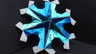 How To Make An Origami Starry Snowflake (martin Sejer Andersen)