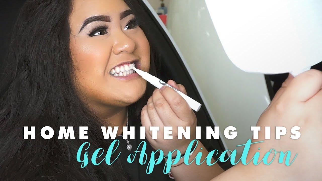 Home Whitening Tips | GEL APPLICATION
