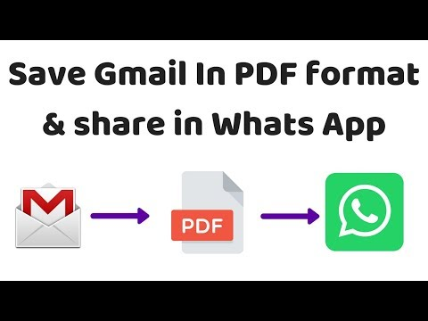 How To Save Gmail In PDF Format & Share It In Whats App