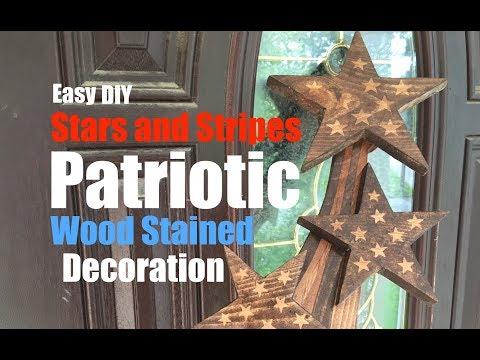 Feel like doing some patriotic diy woodwork?