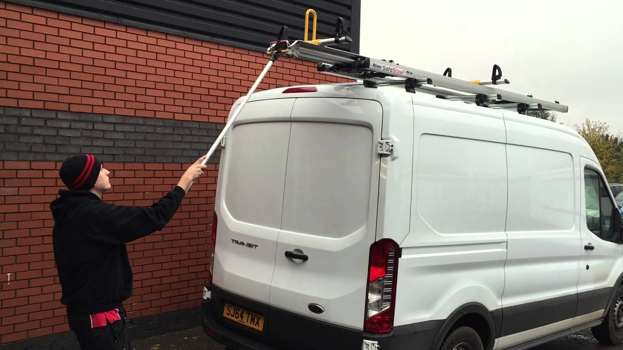 Rhino Safe Stow 3 Ladder Rack Demonstrated By Lnb Towbars