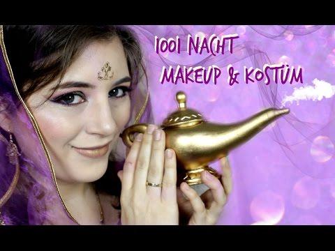 1001 Nacht Makeup Kostum Fur Karneval Fasching Youtube