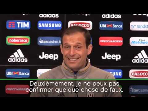 "JFC - Massimiliano Allegri - ""I AM HAPPY TO THE JUVE"""