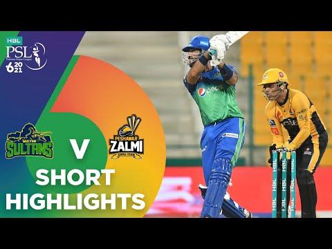 Short Highlights   Peshawar Zalmi vs Multan Sultans   Match 21   HBL PSL 6   MG2T