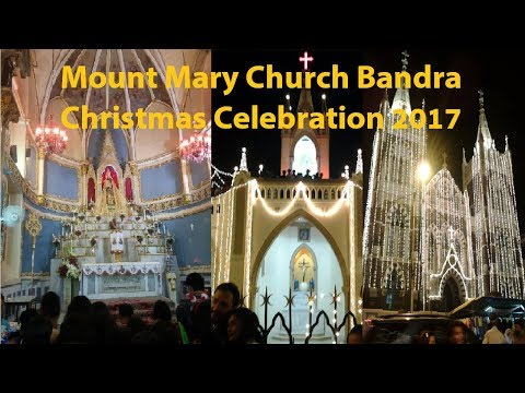 Christmas celebration at Mount Mary Church 2017   Bandra Mumbai   Rider Rahul   Gopro