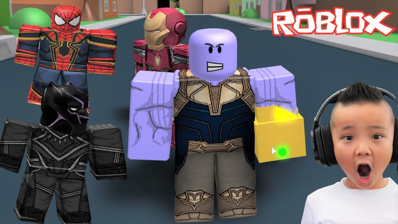 Roblox Thanos Game Thanos Simulator Wiping Out The Avengers Roblox Gameplay Ckn Gaming Youtube