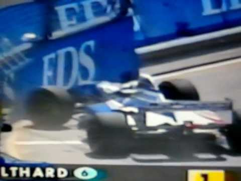 David Coulthard crashes in pit lane-1995 Australian Grand Prix