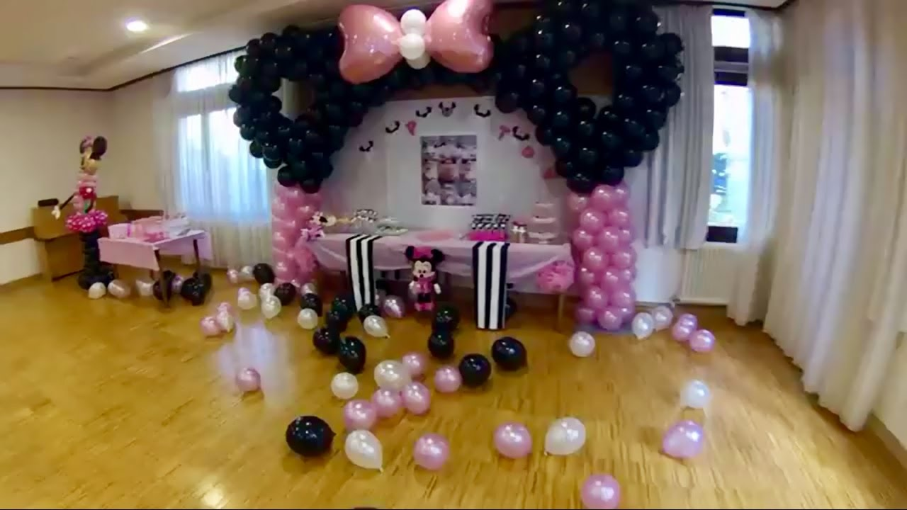 1st birthday minnie by party deko world youtube. Black Bedroom Furniture Sets. Home Design Ideas