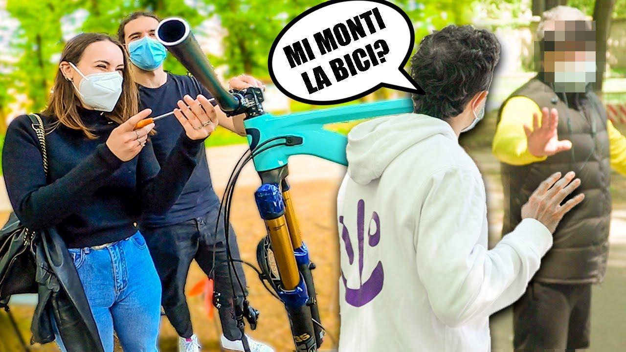 CHIEDO A SCONOSCIUTI DI MONTARE LA MIA BICI!