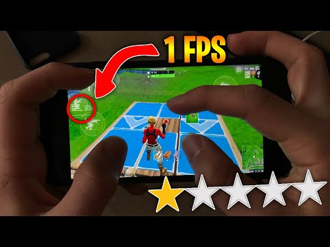 Playing On The WORST Reviewed Device For Fortnite Mobile... (1 STAR)