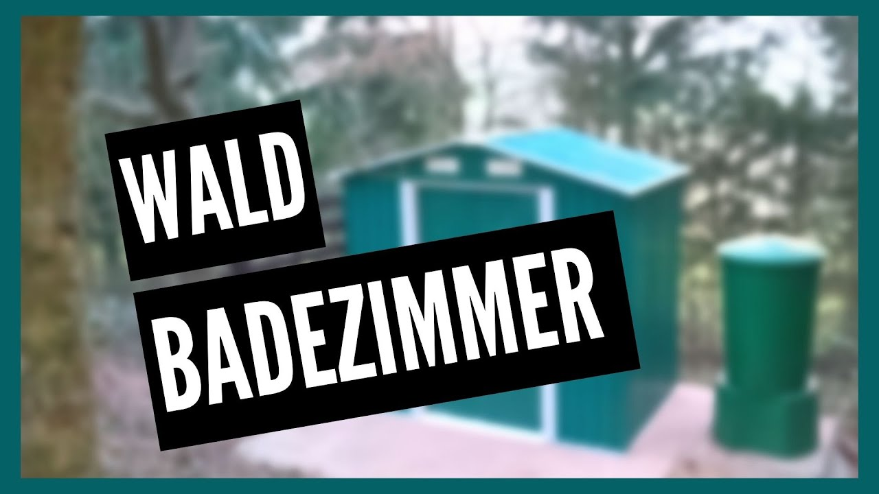 Trendig Garten Badezimmer selber gebaut mit Dusche Preppern - YouTube QX92