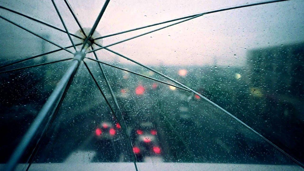 binaural rain on umbrella youtube