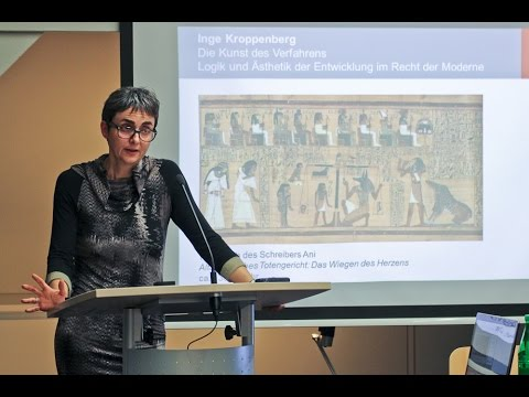 Inge Kroppenberg: The Art of Procedure. Logic and aesthetics of the development of law in modernity