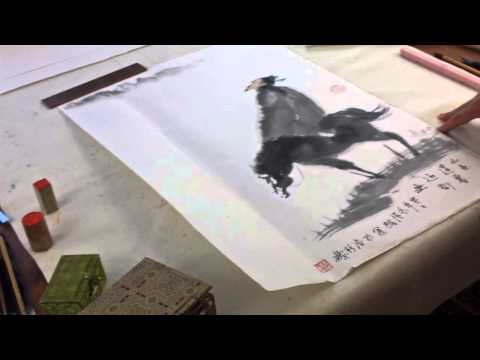 Lesson 26 Section 2-2: Zen Paintings with Prof Lu Mei 陆楣 Poet on Horse Back