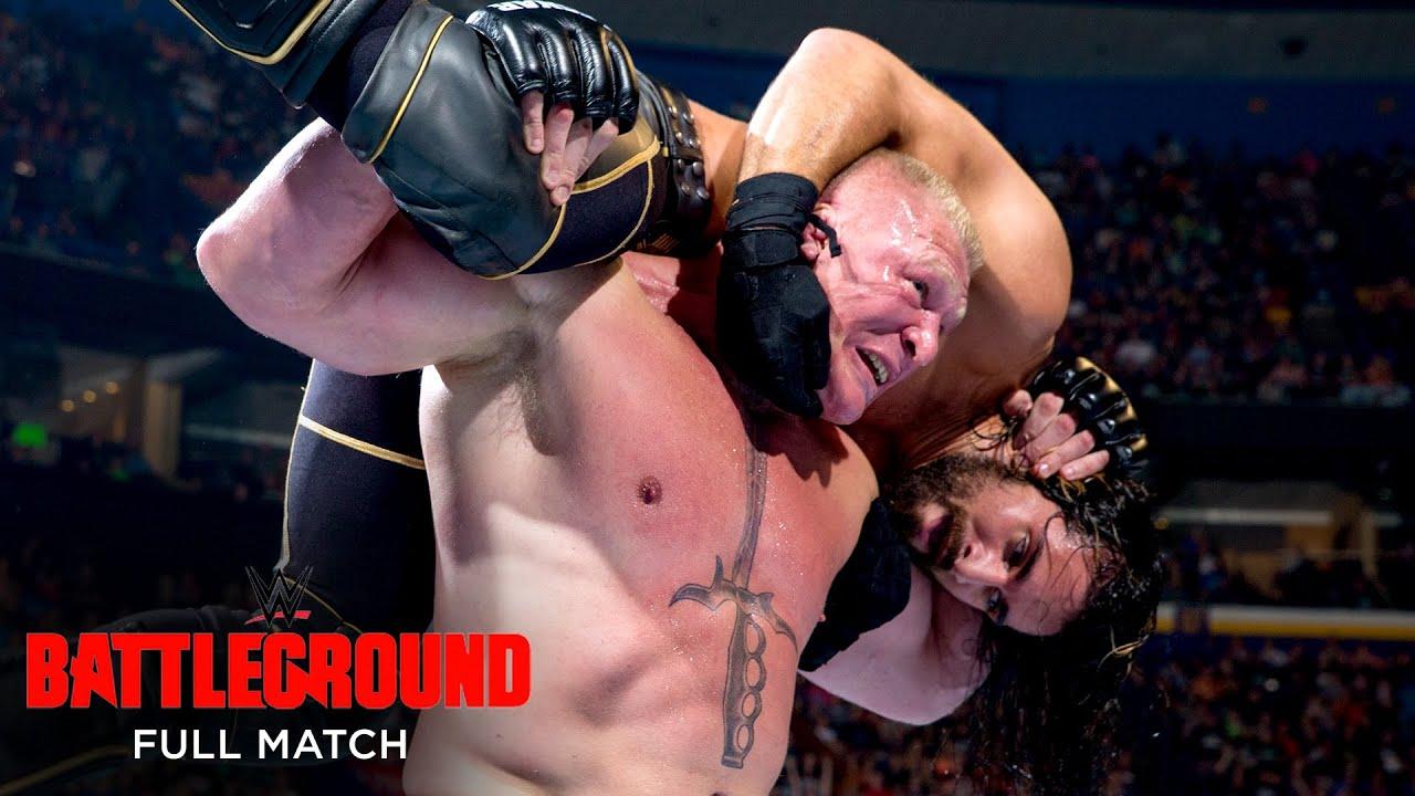 Download FULL MATCH - Seth Rollins vs. Brock Lesnar - WWE Title Match: WWE Battleground 2015