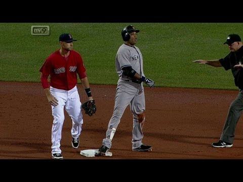 NYY@BOS: Cano surprises Red Sox's defense with a bunt from YouTube · Duration:  50 seconds