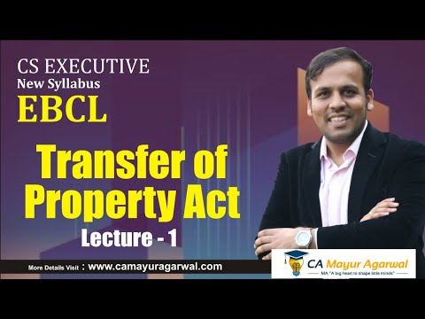 Introduction to Transfer of Property Act 1882 CS Executive 8087632076 TOPA