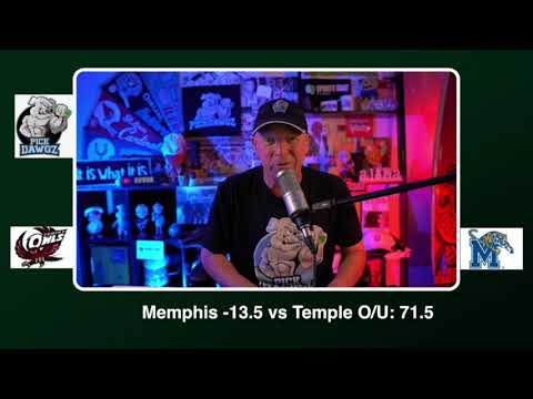 Memphis vs Temple Free College Football Picks and Predictions CFB Tips Saturday 10/24/20