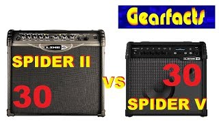 Line 6 Spider II 30 vs Spider V 30 guitar amplifiers