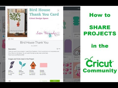 How to Share Projects to the Cricut Community