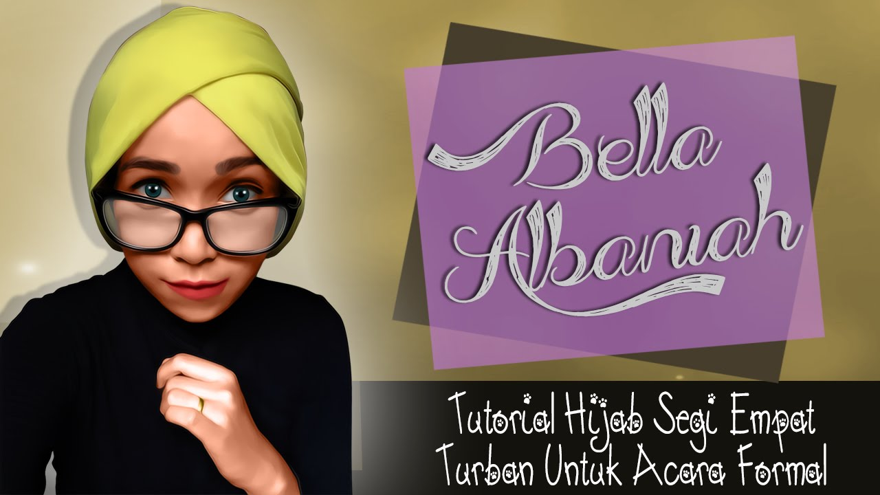 Tutorial Hijab Segi Empat Turban Acara Formal 2016 YouTube