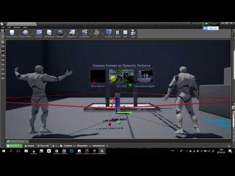 Kinect for UE4 local multi rig tracking test