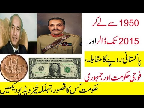 Comparing The Pakistan's Rupees With 1 US Dollar In The Few Past Decades