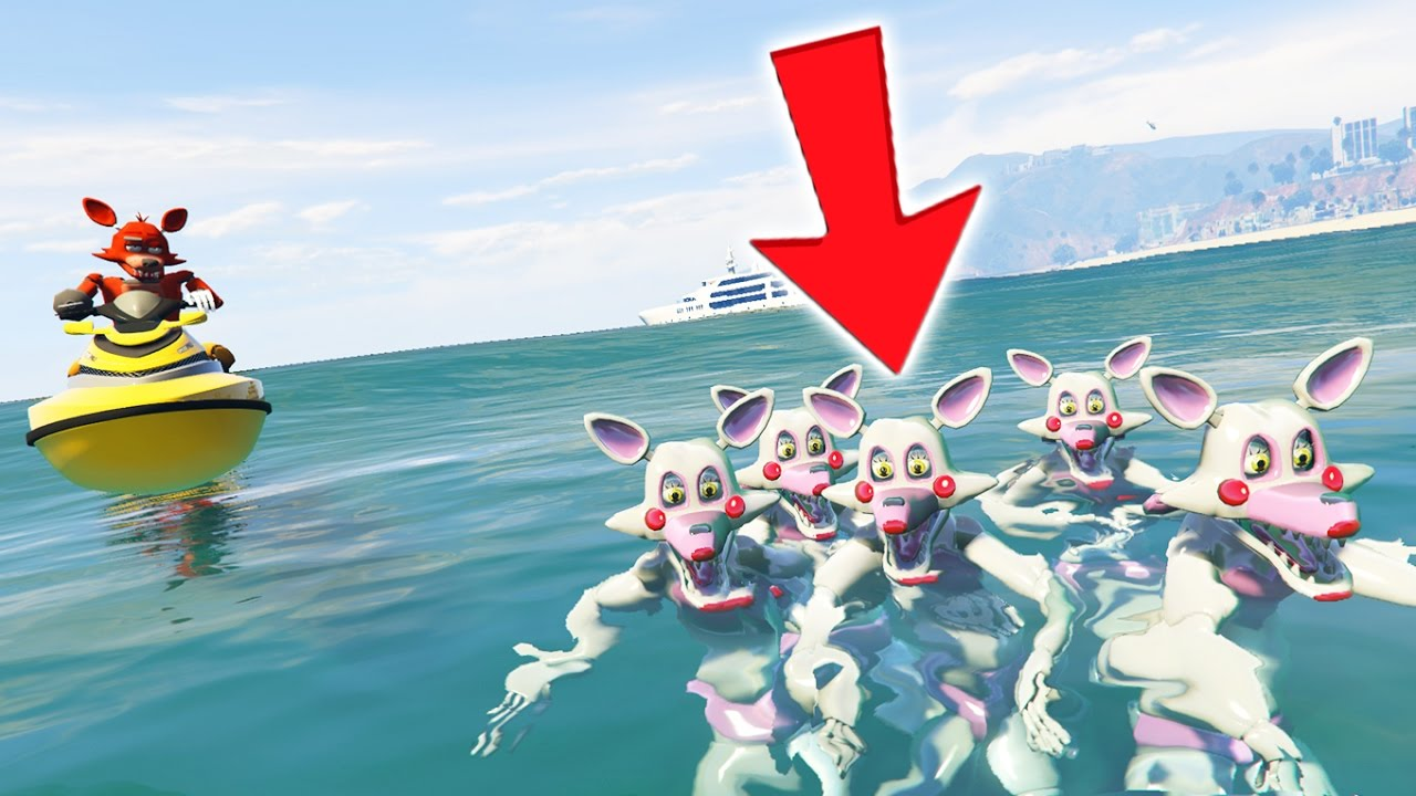 Foxy Saves Mangle Family From Drowning Gta 5 Mods For