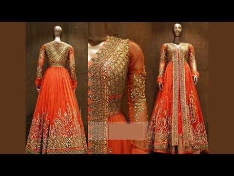Long Anarkali Gown Dress Designs (Part 79)