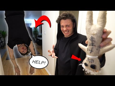 EVIL TWIN USES REAL LIFE VOODOO DOLL ON ME 3AM CHALLENGE!! (SCARY)