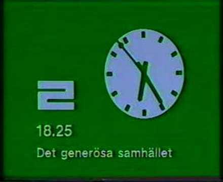 Klassisk TV2-klocka 1978