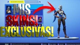 I MIEI SKINS PIÙ ESCLUSIVA!! -SKINS, PICOS E MAS!-FORTNITE!