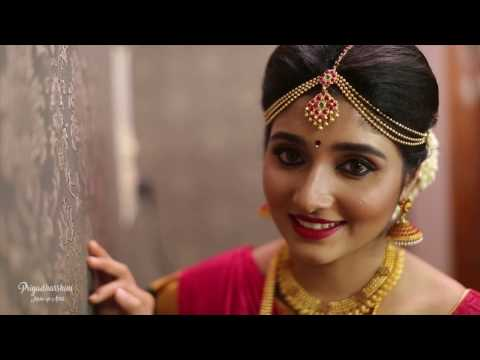 TRADITIONAL SOUTH INDIAN BRIDAL LOOK  MUHURTHAM MAKEOVER Priyadharshini  Make Up Artist