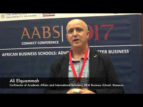 Ali Elquammah on education in 2017 AABS Conference