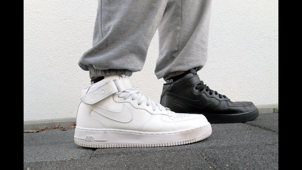 Nike Air Force 1 Mid Black and White Combined Style has no rules