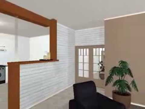 simulation renovation couloir salon youtube. Black Bedroom Furniture Sets. Home Design Ideas