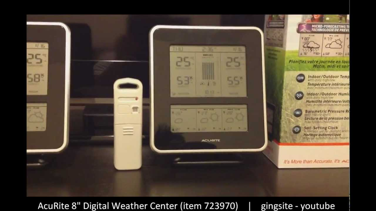 Review Acurite 8 Digital Weather StationCenter 723970 YouTube