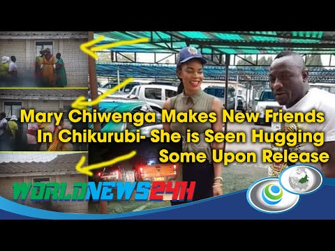 Mary Chiwenga Makes New Friends In Chikurubi- She is Seen Hugging Some Upon Release; See video
