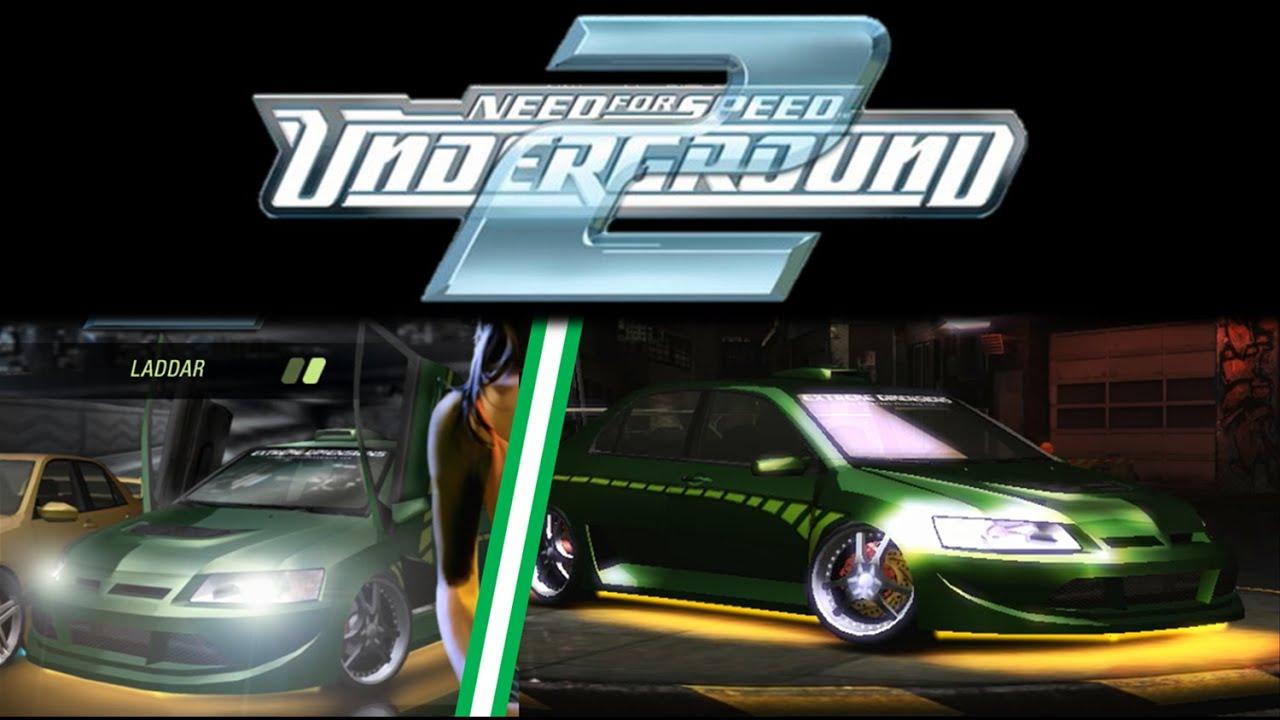 Mitsubishi Lancer Evolution >> NFS Underground 2: Green Mitsubishi Lancer Evolution VIII from loadig screen - YouTube