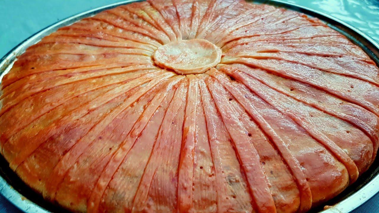 مسمنة مورقة ومعمرة بعدة طبقات بالكفة والخضروات في الفرن/مسمن مورق/مسمن معمر/فطيرة رائعة/فطيرة تركية/