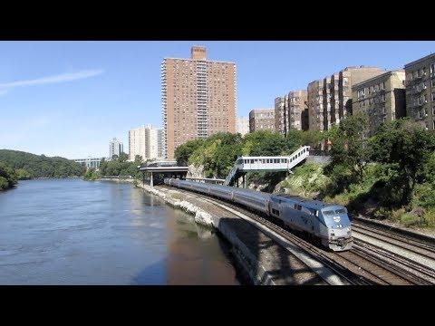 [HD] Metro-North & Amtrak At Marble Hill & Spuyten Duyvil