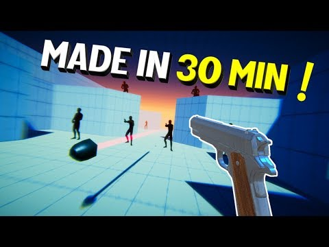 Making A VR Game In 30 MIN - Pistol Whip Remake