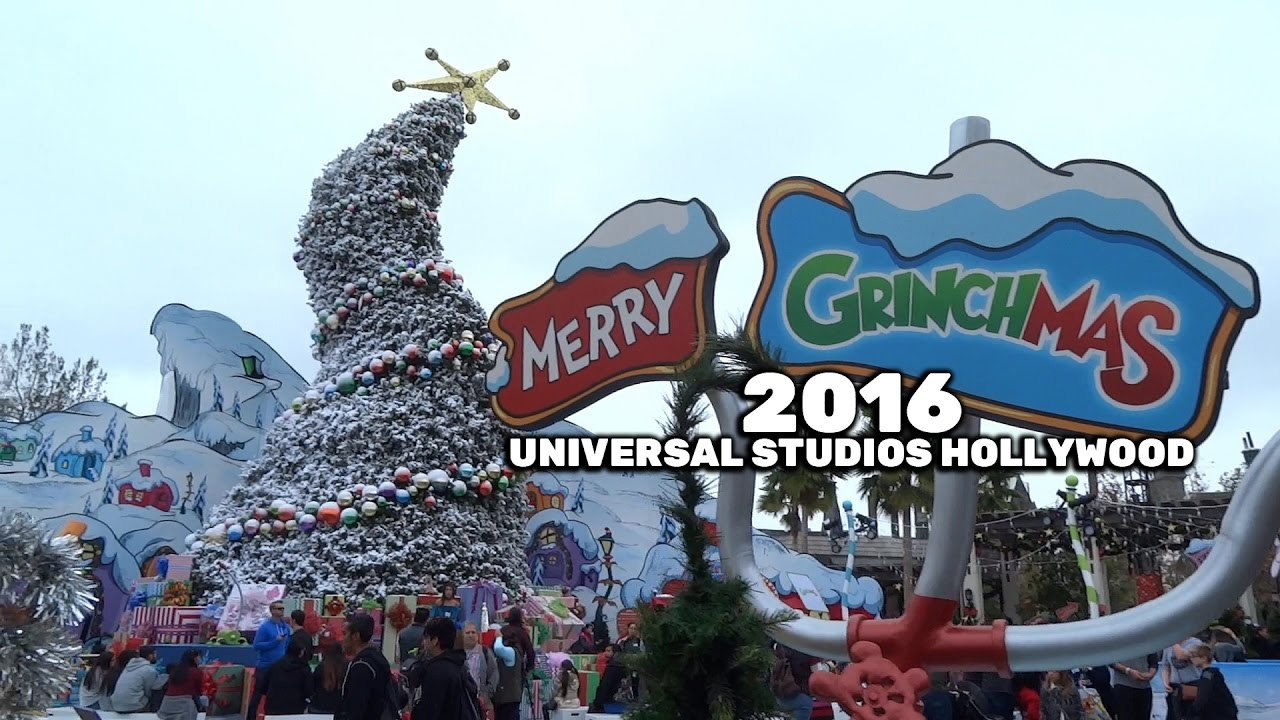Universal Studios Christmas.Grinchmas Whobilation Area Tour During Christmas Season 2016 At Universal Studios Hollywood